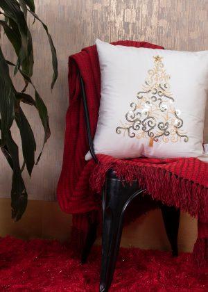 cojin decorativo navidad arbol